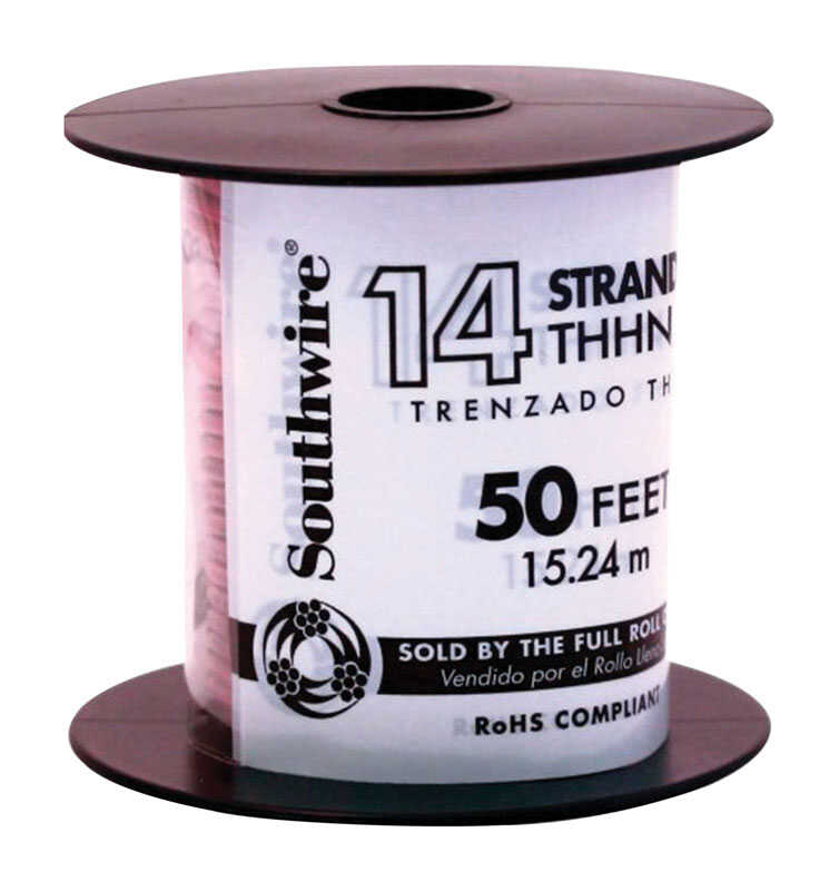 Southwire  50 ft. 14/1  Stranded  THHN  Building Wire