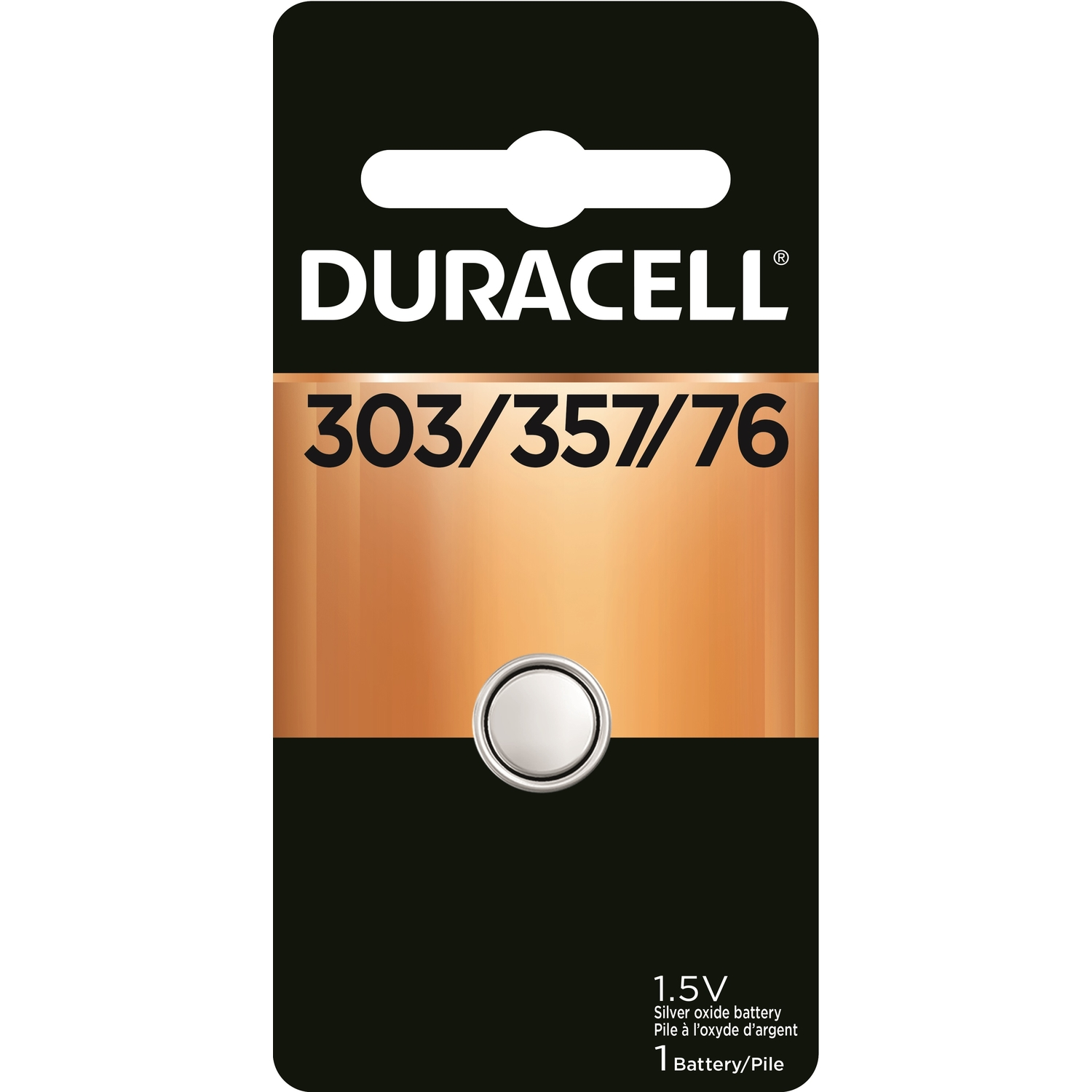 Duracell  Silver Oxide  Electronic/Watch Battery  1 pk 303/357
