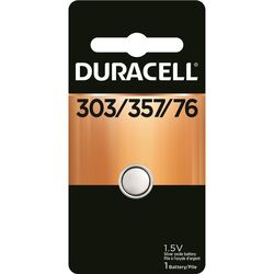 Duracell  Silver Oxide  303/357/76  1.5 volt Electronic/Watch Battery  1 pk