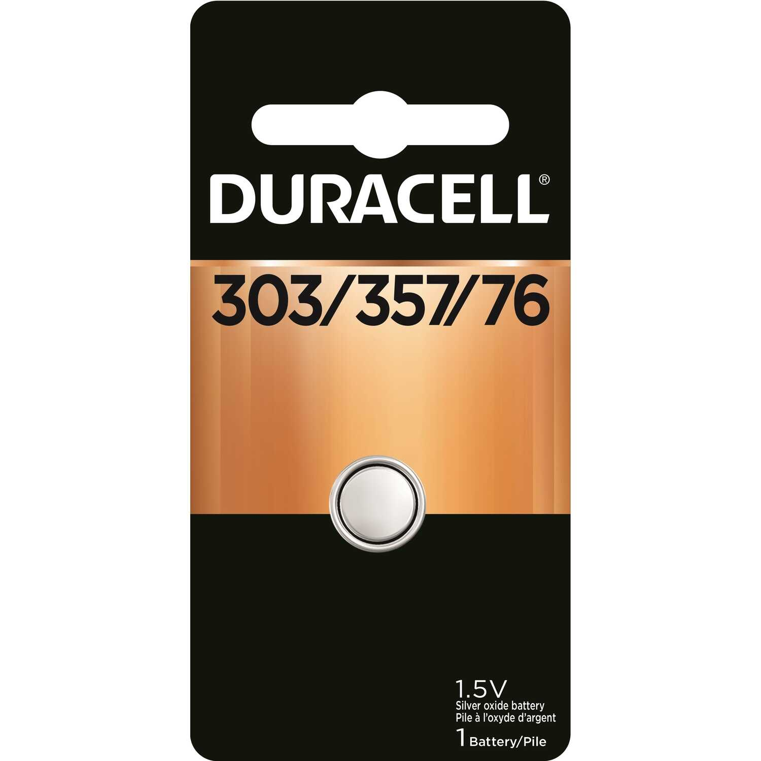 Duracell  303/357  1.5 volt Silver Oxide  1 pk Electronic/Watch Battery