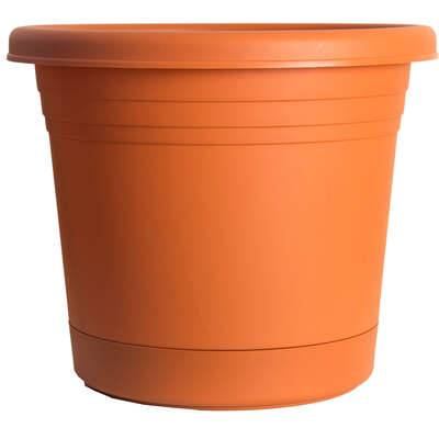 Rugg  Polyresin  Planter  Terracotta