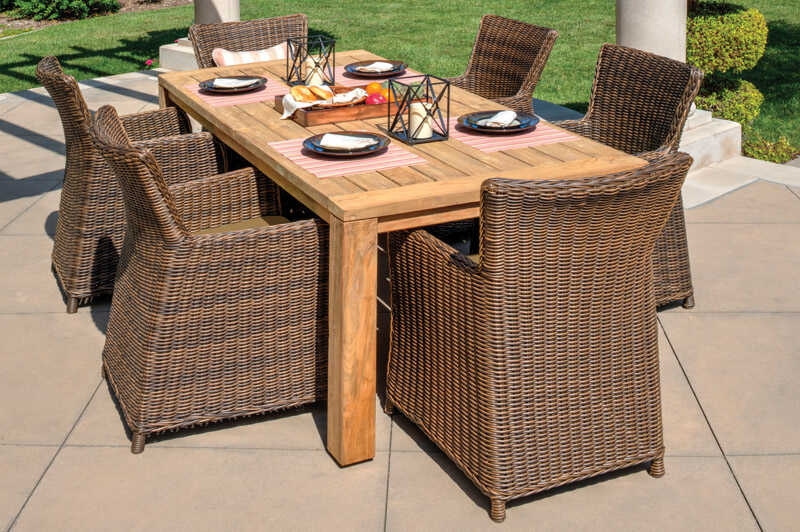 Northcape  7 pc. Dining Set  Brown