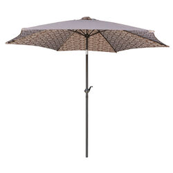 Living Accents  9 ft. Tiltable Tan  Market  Umbrella