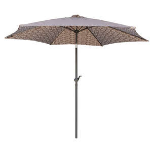 Living Accents  MARKET  9 ft. Tiltable Tan  Patio Umbrella