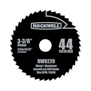 Rockwell  3-3/8 in. Dia. x 19/32 in.  Versacut  High Speed Steel  44 teeth 10 pc. Circular Saw Blade