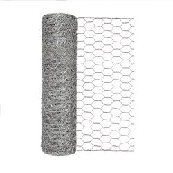 Garden Craft 18 in. H x 50 ft. L 20 Ga. Silver Poultry Netting