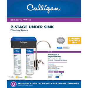 Culligan  Stage 2  Water Filtration System  For Under Sink 0.5 gal.
