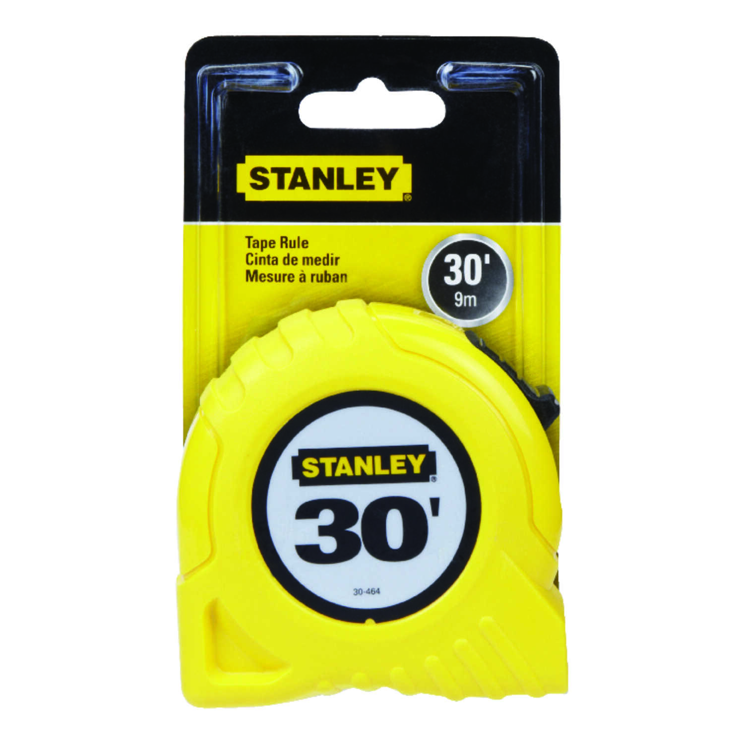 Stanley  30 ft. L x 1 in. W Yellow  1 pk Tape Rule