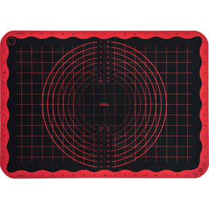 Trudeau  13 in. W x 19 in. L Pastry Mat  Black/Red  1 pk
