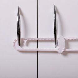Dreambaby White Plastic Cabinet Slide Locks 2 pk