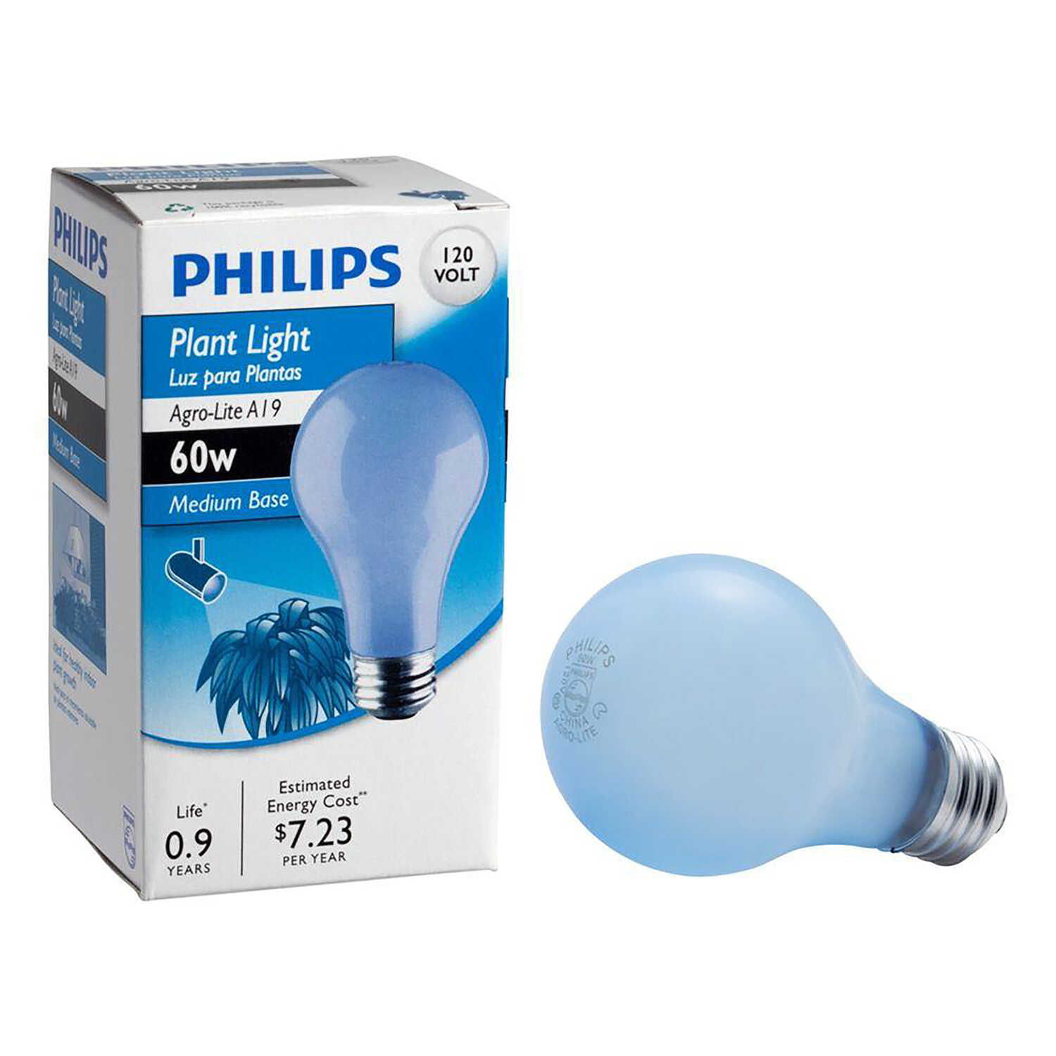 Philips  Agro-Lite  60 watts A19  Incandescent Bulb  630 lumens Soft White  Specialty  1 pk