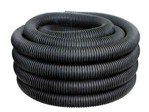 ADS  100 ft. L Plastic  Corrugated Drainage Tubing with Sock