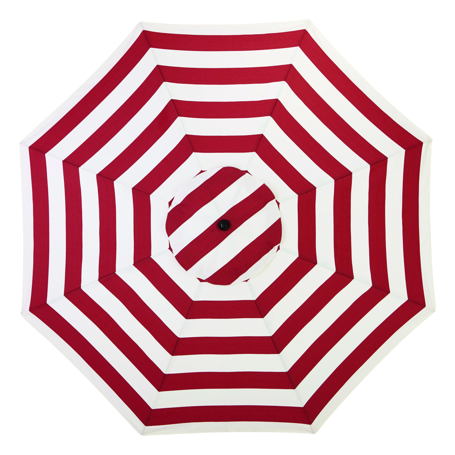 Living Accents MARKET 9 Ft. Tiltable Red White Stripe Patio Umbrella