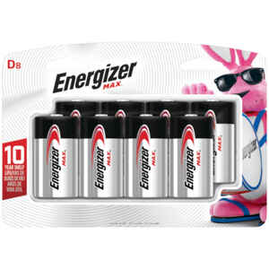 Energizer  MAX  D  Alkaline  Batteries  1.5 volts 8 pk Carded