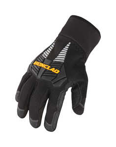 Ironclad  Synthetic Leather  Gloves  Black  Cold Weather  Extra Large