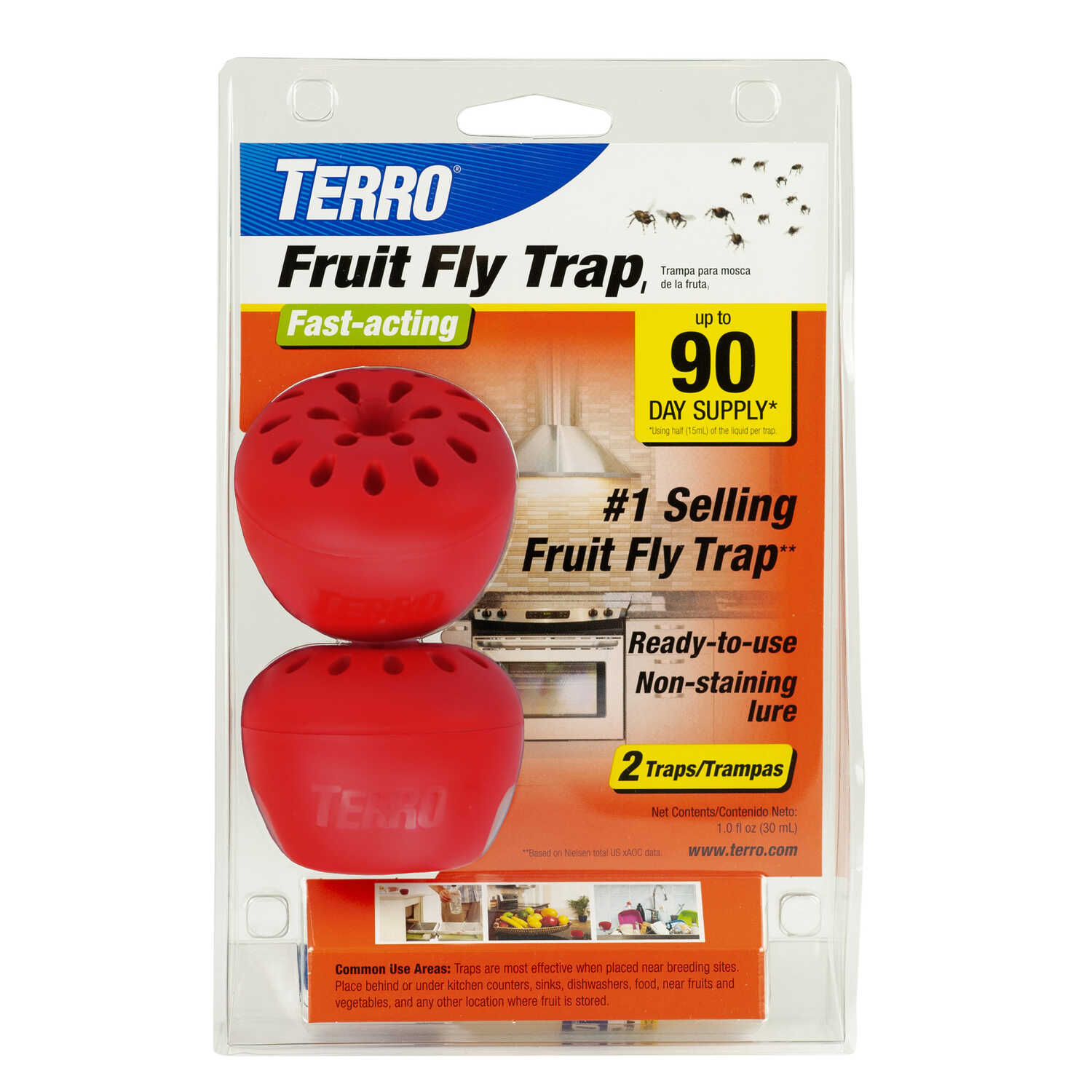 TERRO  Fruit Fly Trap  2 pk