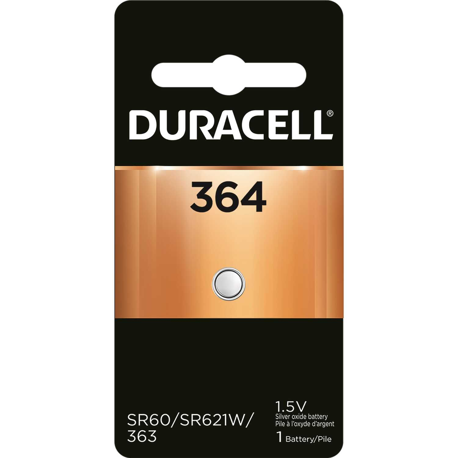 Duracell  Silver Oxide  364  1.5 volt Electronic/Watch Battery  1 pk