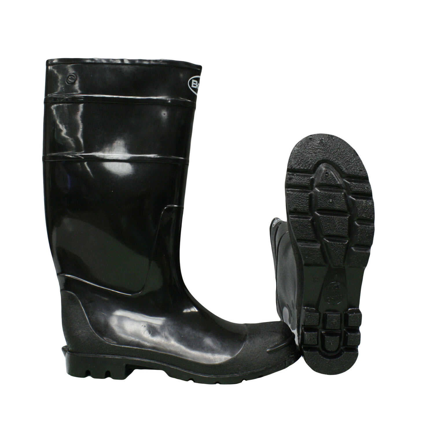 Boss  Black  PVC  Boots  10 US