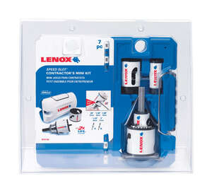 Lenox  Speed Slot  1.5 in. L x 2 in. Dia. Bi-Metal  Mini Hole Saw Kit  1 pc.