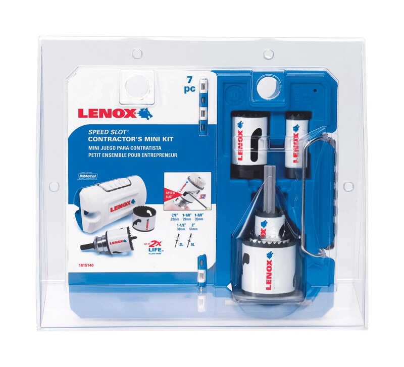 Lenox  Speed Slot  2 in. Dia. x 1.5 in. L Bi-Metal  Mini Hole Saw Kit  1 pc.