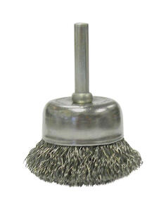 Weiler  Vortec Pro  1/4 in.  x 2 in. Dia. Crimped  Steel  Crimped Wire Cup Brush  1 pc.