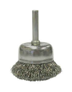 Weiler  Vortec Pro  2 in. Dia. x 1/4 in.  Crimped  Steel  Crimped Wire Cup Brush  13000 rpm 1 pc.