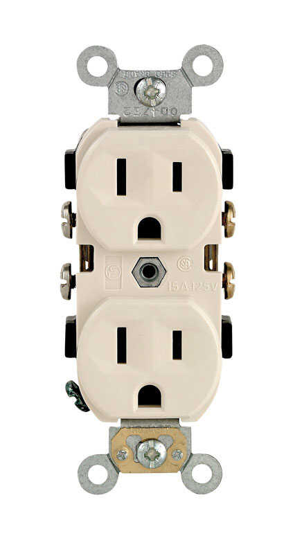 Leviton  15 amps 125 volt Light Almond  Outlet  5-15R  1 pk