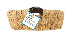 Honey Can Do  Brown/Natural  Woven Basket