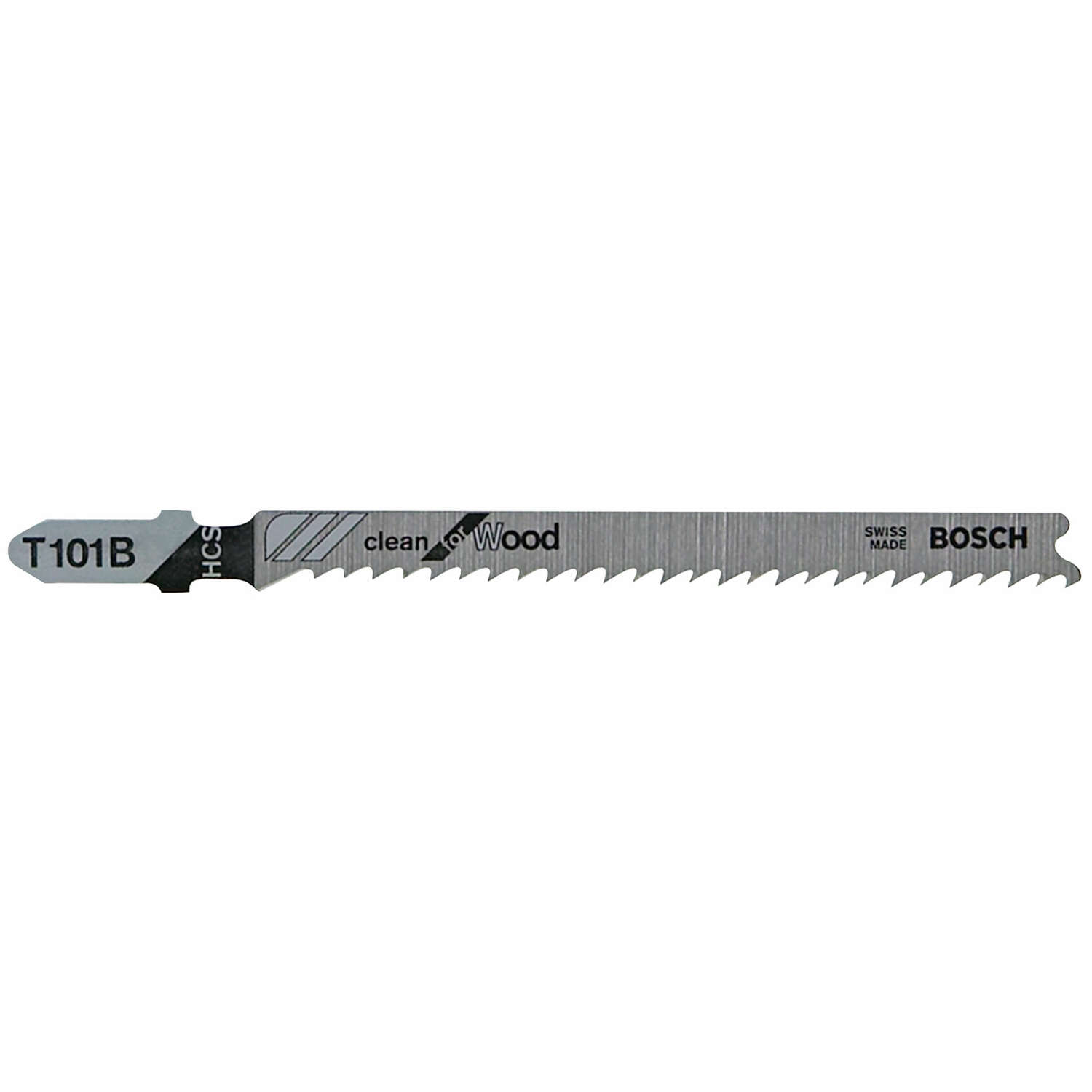 Bosch  4 in. Carbon Steel  T-Shank  Ground teeth and taper ground back  Jig Saw Blade  10 TPI 5 pk