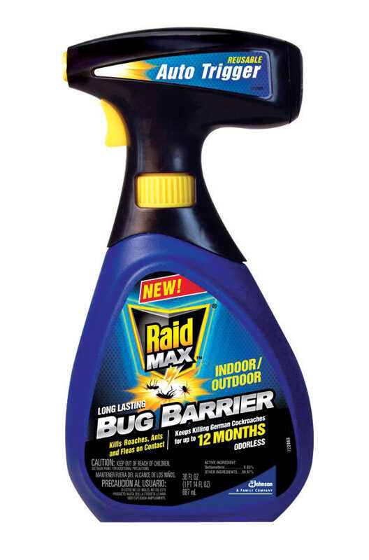 Raid  Bug Barrier  Bug Barrier  Liquid  For Fleas, Ants, Variety of Insects 30 oz.