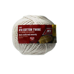 Ace #16 in. Dia. x 510 ft. L White Wrapping Cotton Twine
