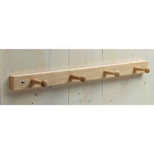 InterDesign  Brown  Wood  21-1/2 in. L 4-Peg Wood  Rack  1 pk Jumbo