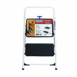 Cosco  28.15 in. H x 17.323 in. W 200 lb. 2 step Steel  Folding Two Step Stool