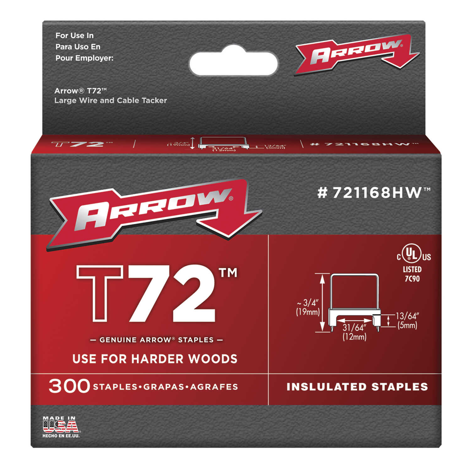 Arrow Fastener  3/4 in. W x 3/4 in. L Metal and Plastic  Wide Crown  Insulated Staples  15 Ga. 300 p