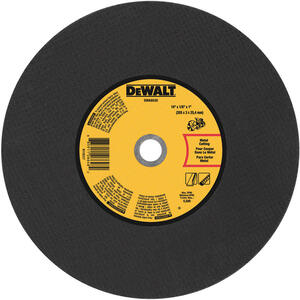 DeWalt  14 in. Dia. x 1 in. in.  Aluminum Oxide  Cut-Off Wheel  1 pc.