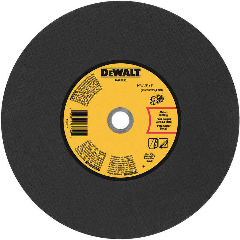 DeWalt  14 in. 1 in. in.  Aluminum Oxide  Cut-Off Wheel  1 pc.