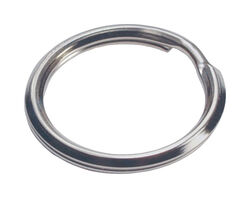 Hillman  1 in. Dia. Tempered Steel  Silver  Split Rings/Cable Rings  Key Ring