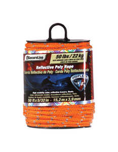 SecureLine  5/32 in. Dia. x 50 ft. L Orange  Diamond Braided  Rope  Poly