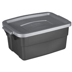Rubbermaid  Roughneck  7 in. H x 10.3 in. W x 15.687 in. D Stackable Storage Box