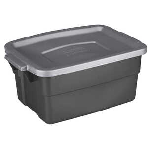 Rubbermaid  Roughneck  7 in. H x 15.687 in. D x 10.3 in. W Stackable Storage Box