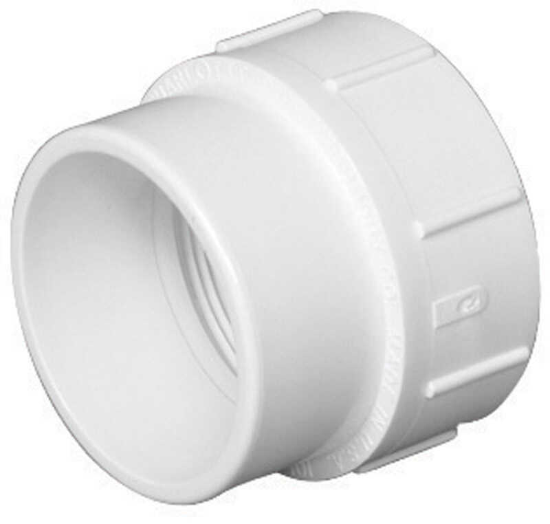 Charlotte Pipe  6 in. Spigot   x 6 in. Dia. FPT  Pipe Adapter