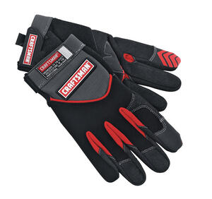 Craftsman  Men's  Indoor/Outdoor  Suede/Synthetic Leather/Terry Cloth  Mechanic  Gloves  Black  L  1