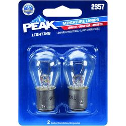 Peak  Incandescent  Parking/Stop/Tail/Turn  Miniature Automotive Bulb  2357