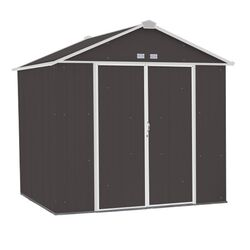 Arrow Ezee 8 ft. x 7 ft. Metal Vertical Peak Storage Shed without Floor Kit