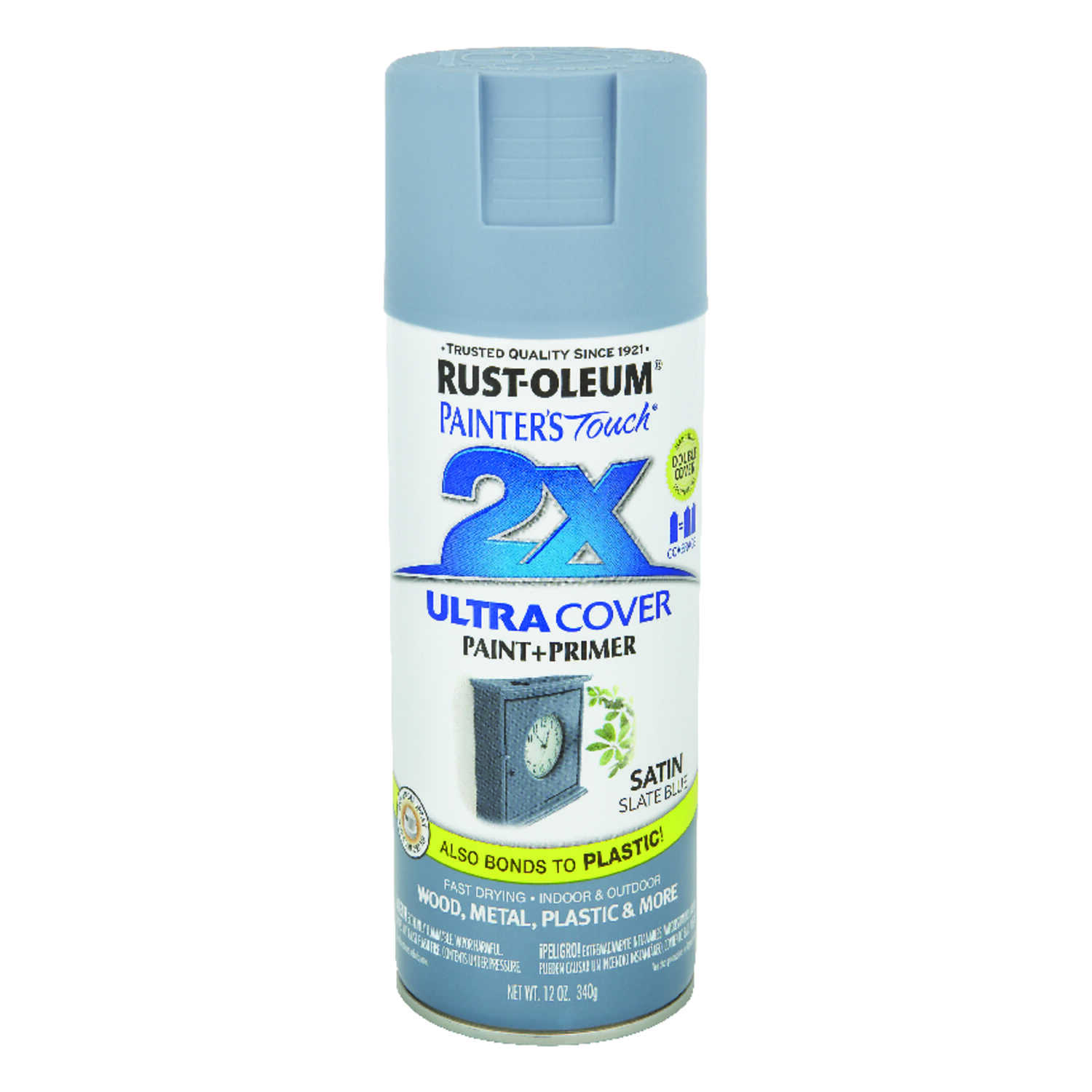 Rust-Oleum  Painters Touch Ultra Cover  Satin  Slate Blue  Spray Paint  12 oz.
