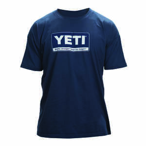 YETI  M  Short Sleeve  Men's  Crew Neck  Navy  Tee Shirt