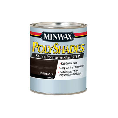 Minwax  PolyShades  Semi-Transparent  Gloss  Espresso  Oil-Based  Stain  1 qt.