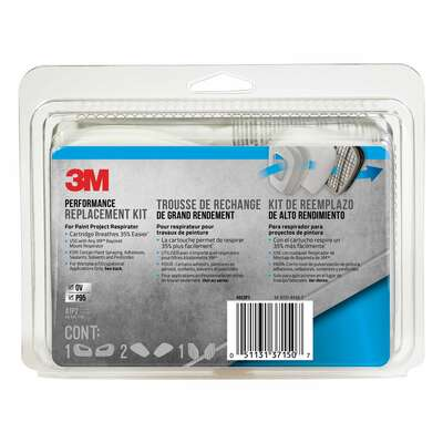 3M  P95  Paint Project  Respirator Supply Kit  6000 & 7000  Gray  8 pc.