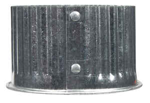Imperial Manufacturing  3 in. Dia. Galvanized steel  Crimped  Pipe End Cap