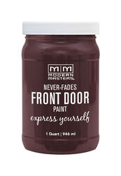 Modern Masters  Satin  Sincere  Water-Based  Front Door Paint  Outdoor  1 qt.